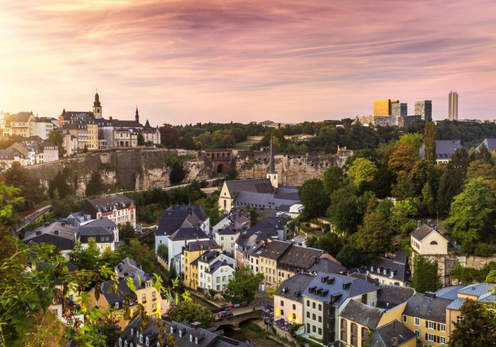 The nice city of Luxembourg in Europe